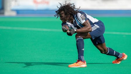 Kwan Browne in action for Hampstead & Westminster against Beeston (pic David Kissman)
