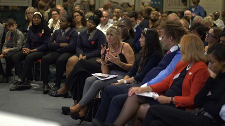 The audience of youth workers, professionals and stakeholders at Coram's knife crime disucssion even