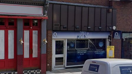 The O2 shop on Hampstead High Street was broken into. Picture: Google