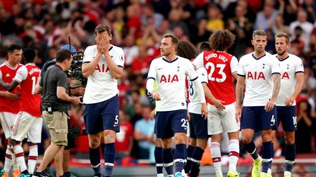 Tottenham Hotspur's Jan Vertonghen looks dejected at the end of the match during the Premier League