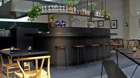 The open-plan kitchen is a centrepiece of the restaurant. Picture: Cornerstone.