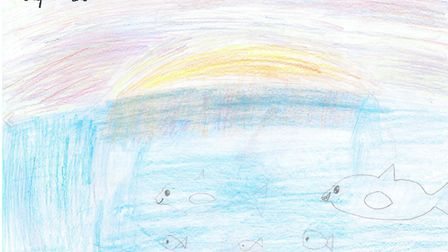The children's entries from Gunton Primary Academy, which triumphed in the world haiku contest. Pict