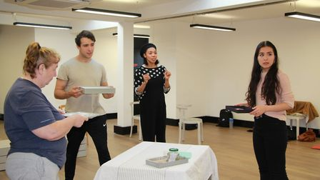 Rehearsals for Property.