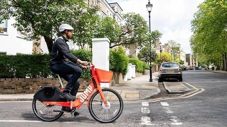 Uber launched electric Jump bikes in London earlier this year. Picture: Uber