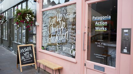 The eco cafe set up by Patagonia in Broadway Market