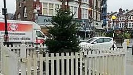 The 2018 Muswell Hill Christmas tree was not well-received. Picture: Supplied