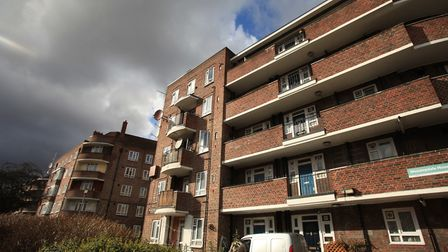 Woodberry Down estate, Seven Sisters Road.