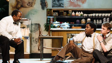 Lucian Msamati, Hammed Animashaun and Anson Boon in Master Harold...and the boys Picture: Helen Murr