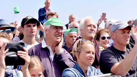 Large crowds attend the finsh line in Southwold for the first stage of the OVO energy Women's Tour P