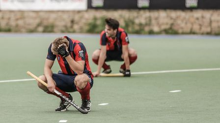Hampstead players in action at the EHL in Barcelona (pic Mark Clews)