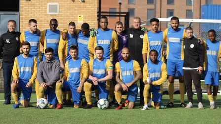 Highgate Albion face the camera after their FA Sunday Cup victory (Pic: John Eager)