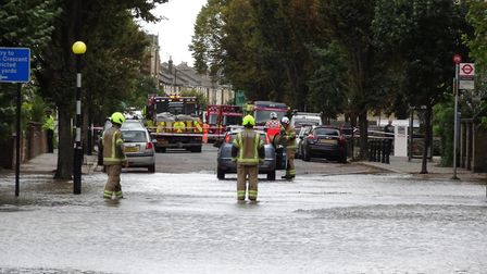 Fire crews at the scene. Picture: David Nathan