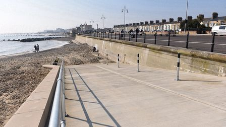 The seafront train runs all the way along the South Beach promenade. Picture: Archant Library