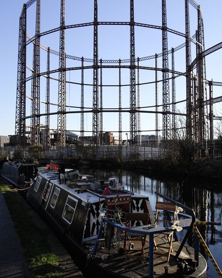 The Bethnal Green gasholders. Picture: The Gentle Author