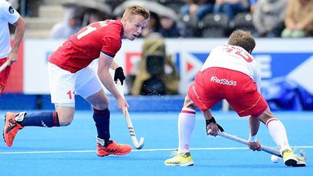 GB's men beat Spain in a warm-up for their Olympic qualifier (pic GB Hockey)