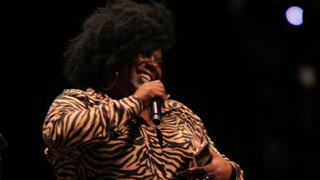 Poet and guest-speaker Peaches performed at Robyn Travis' book launch. Picture: Shanei Stephenson-Ha
