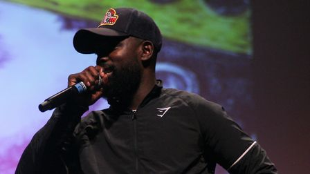 Rapper Ghetts gave a special performance at Hackney Empire. Picture: Shanei Stephenson-Harris