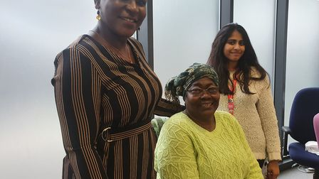 (From left) Programme manager, Martina Agho, Acceptance and dementia support manager,Taiyaba. Pictur