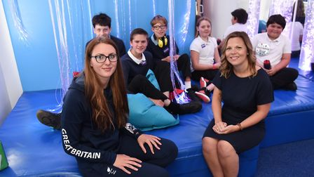 Paralympic swimmer Jessica-Jane Applegate opens the new sensory room at The Ashley School. She is pi