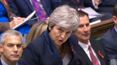 Prime minister Theresa May speaks during PMQs Photo: PA