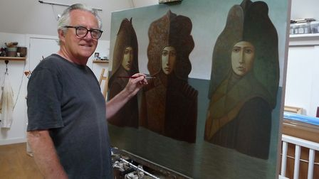 George Underwood in his Studio