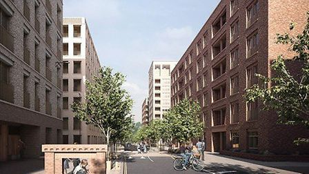 An artist's impression of what Kings Crescent Estate will look like once complete - hopefully in thr