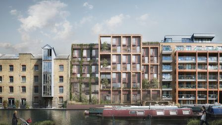 An artist's impression of what the proposed development on the Travis Perkins builders yard could lo