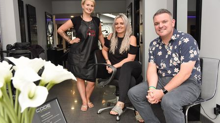 Katie Scarfe (left), colour director at CODE in Oulton Broad, with salon owner Laura Bull and Lowest