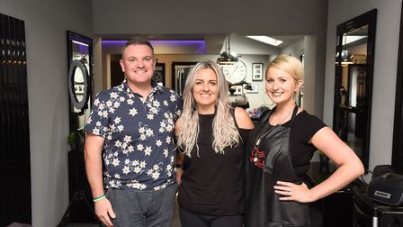 Katie Scarfe (right), colour director at CODE in Oulton Broad, with salon owner Laura Bull and Lowes