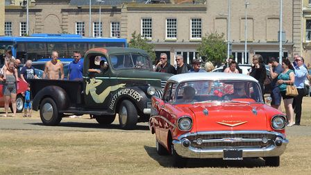 The Wildest Cats In Town cavalcade arrives at Royal Green in Lowestoft. Pictures: Mick Howes