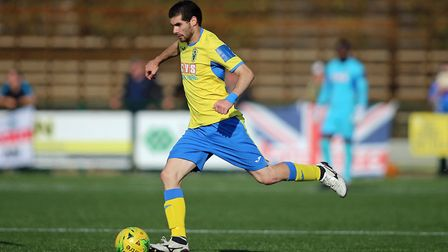 Georgios Aresti is set to return to action for Haringey Borough. Picture: George Phillipou/TGS Photo
