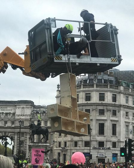 The box being dismantled. Picture: Joe Giddings