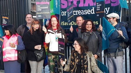 Teachers at BSix went on strike. Picture: National Education Union