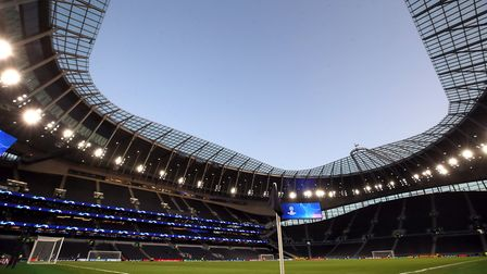 General view of the stadium ahead of the UEFA Champions League Group B match at Tottenham Hotspur St