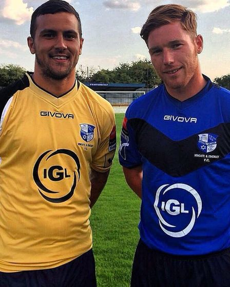 Ahmet Rifat with Marc Weatherstone (Pic: Wingate & Finchley)
