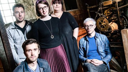 Ascending Ages writers - from left Louis Hill, Dan Dawes, Philippa Dunn, Vicky Howell, and Danny Sha