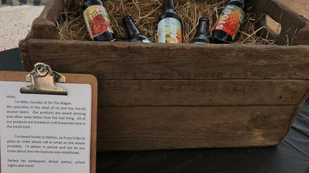 Michael's favourites are the pale ale and the stout and he hopes to add alcohol-free wines and gins