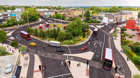 How the Lea Bridge Roundabout could look. Picture: TfL
