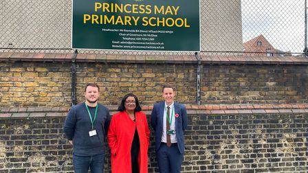 Diane Aboott outside Princess May school. Picture: Sarah Burgess