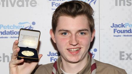 Ned Hanlon with his Jack Petchey award