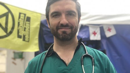 Doctors for XR protest during the two-week Extinction Rebellion protests in central London.