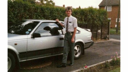 Mark Ward during the time he worked at British Airways. Picture: Mark Ward