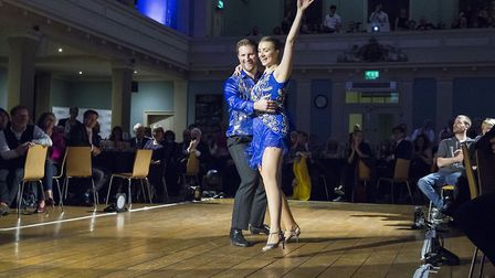 Nick and Kate danced in front of a panel of judges to raise money for Action for Stammering Children