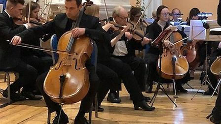 Thomas Gregory performs with the newly formed Ensemble Luce orchestera. Picture: Supplied.