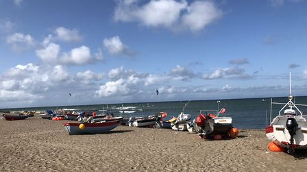 The beach at Klitmoller where the lessons are held. Picture: Emma Bartholomew