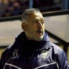 Haringey Borough manager Tom Loizou during the FA Cup fourth qualifying round replay match at Coles