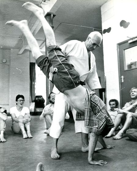 The self-defence classes in the 80s. Picture: Bishopsgate Institute