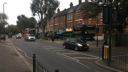 Traffic at the bottom of Hornsey High Street where it meets Middle Lane. Picture: Supplied