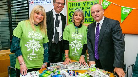 Mike Freer MP at the parliamentary launch of this year's Mitzvah Day campaign. Picture: Yakir Zur