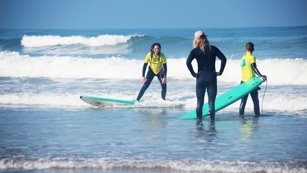 The children's lessons usually take place at the same time as the adult classes. Picture: iSurf Port